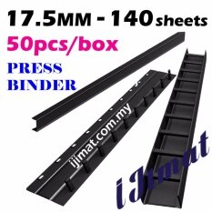 Press Binder Strip 17.5mm / Press Binding Comb (black) (50pcs/box) By I Jimat Enterprise.