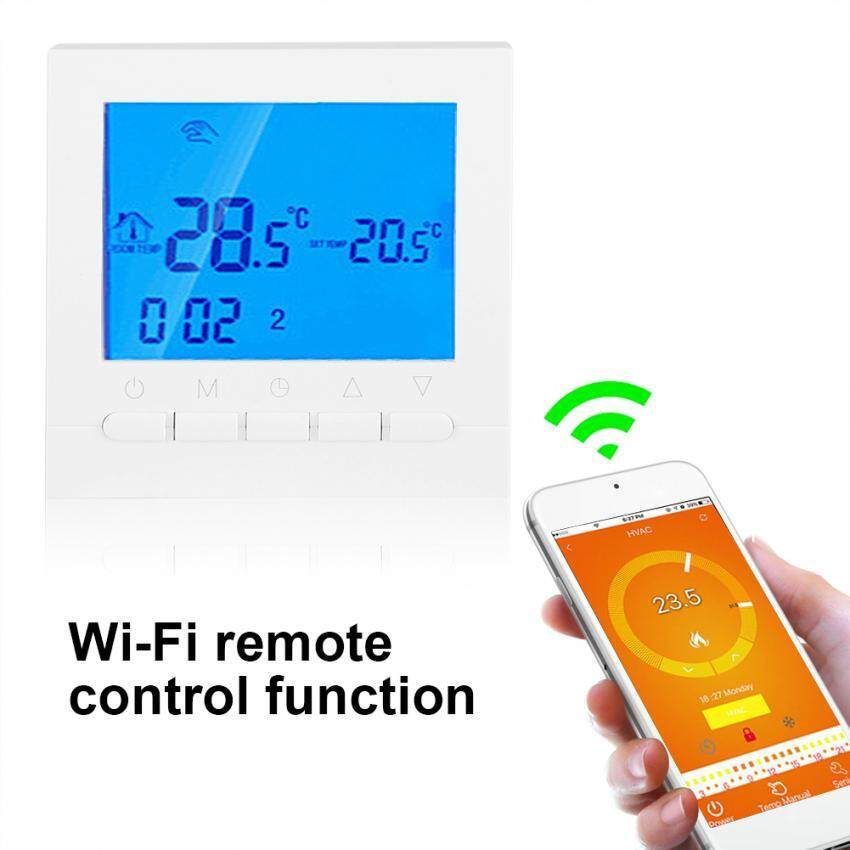Programmable WiFi Wireless Heating Thermostat Digital LCD Touch Screen App Control Tool - intl