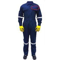 Safety Reflective Workwear Coverall  QUEST  Size M c/w Customize Name Embroidery