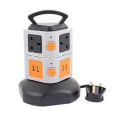 RANWD fashion,high-quality,Surge Protection Vertical Power Strip 6 Outlets 4 USB Ports Smart Socket Charger Station Overload Protector 6Ft Cord