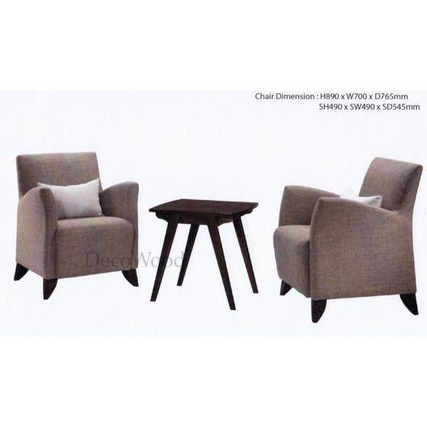 Ready-Fixed Tea Set 2 Sofa Seater Sofa Set Lounge Chair Relax Sofa (Grey Colour) L890MM X W700MM X H765MM