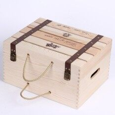 Red Wine Wooden Wine Packaging Gift Box Wood Wooden