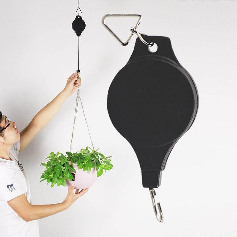 Retractable Pulley Hanging Basket Pull Down Hanger for Flower Baskets Pot