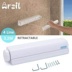 Retractable Washing Line Indoor Space Saving Auto Roll Up Clothes Dryer 14 Metre