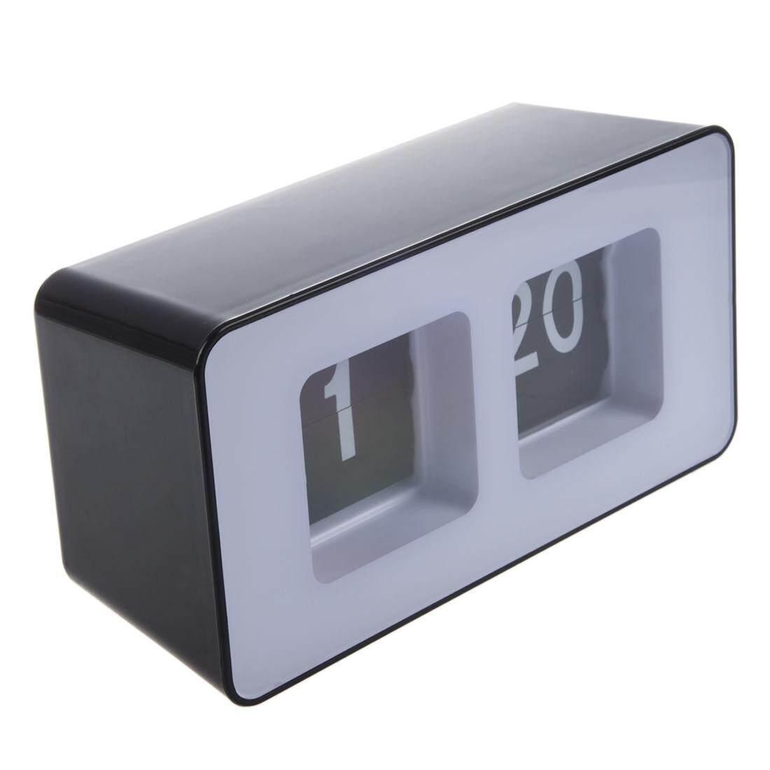 Low Cost Retro Auto Flip Clock Classic Stylish Modern Desk Wall Clock Intl