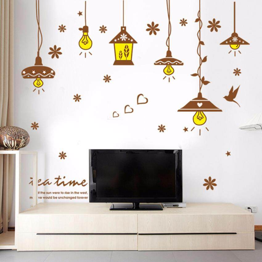 Retro Chandelier Wall Sticker Decal Wallpaper PVC Mural Art HouseDecoration  Home Picture Wall Paper For Adult