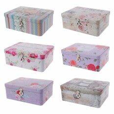 Retro Lock Case Tea Candy Storage Tin Box Jewelry Container Sundries