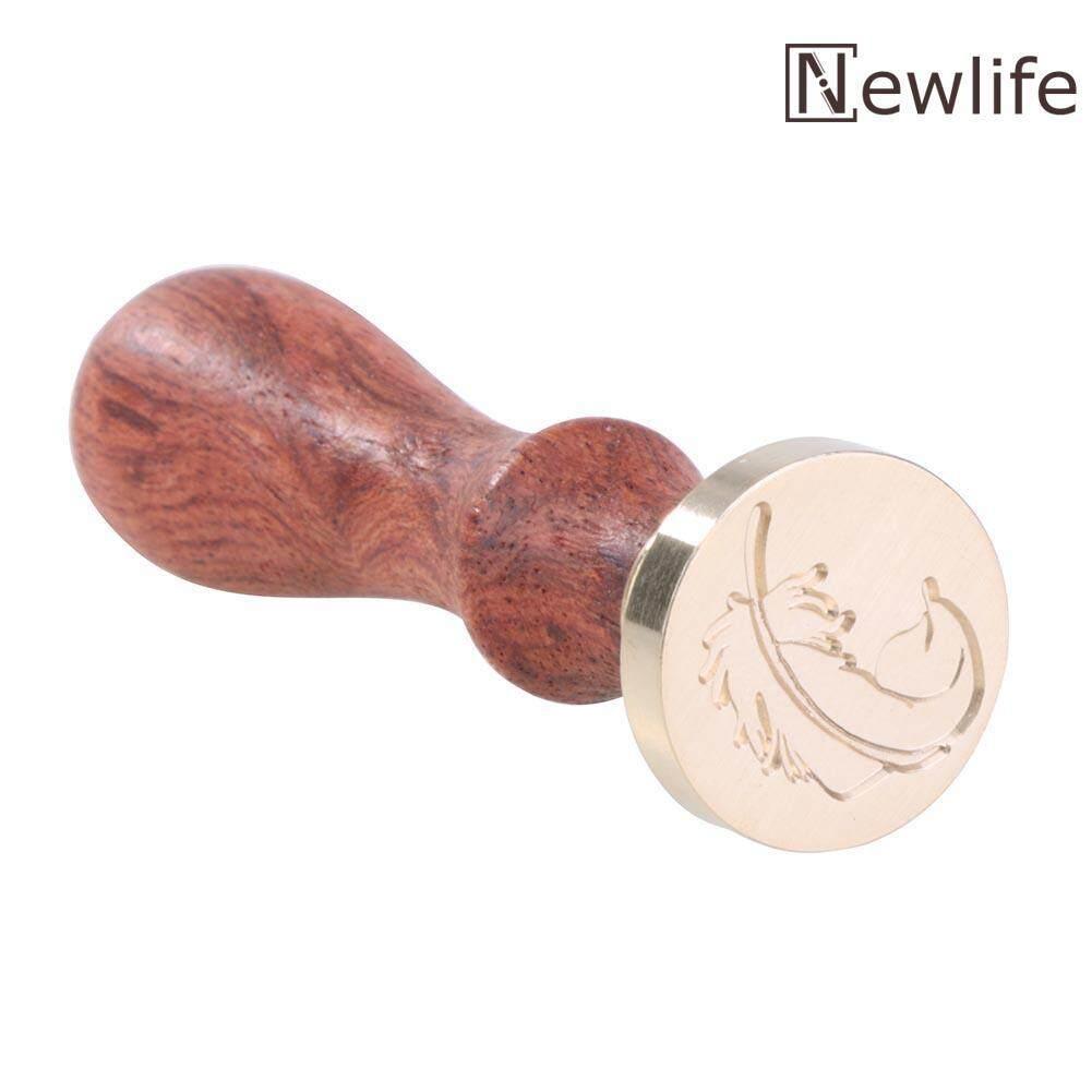Mua Retro Wax Stamp Wood Handle DIY Scrapbooking Envelope Sealing Stamp Seal(Brown)-Feather - intl