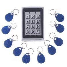 RFID Entry Metal Door Lock Access Control System + 10 Key Fobs