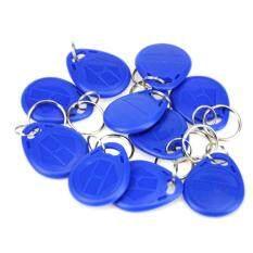 RFID YC-1047 ID Proximity Token Tag Key Keyfobs Chain blue-10pcs