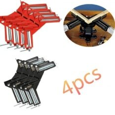 RHS Online 4Pcs 90°Degree Right Angle Picture Frame Corner Clamp Holder Woodworking Hand Kit(RED)