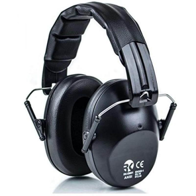 RK Safety RK-EM01BK Shooting Hearing Protection Ear Muff Ear Defender Folding-Padded Head Band Ear Cup (Black)