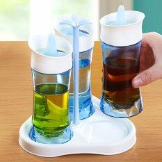 Rotating Spice Storage Set Salt And Pepper Shakers Spice Containers Bottles Jars Vials 3 Bottles By Kingox Store.