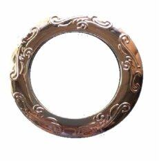 Round Engraved designs Eyelet Ring-Gold/Silver 80pcs