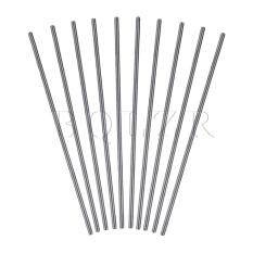 Round HSS Lathe Bars 0.2x10cm Set of 10 Silver