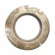 Round Nano  Engraved designs Eyelet Ring-Silver 50pcs