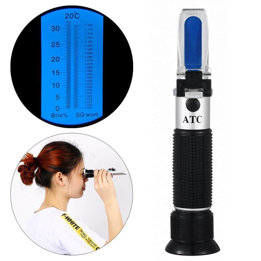RSG-100ATC SG 0-32% Refractometer Hitam Brix & Bir Gula Anggur Wortel