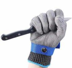 Safety Cut Proof Stab Resistant Work Gloves Stainless Steel Wire Safety Gloves Cut Metal Mesh Butcher Anti-cutting Work Gloves (Size M)