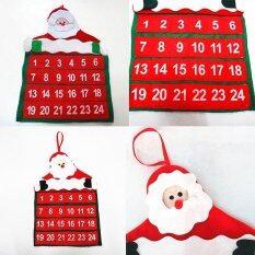 Mua Santa Claus Christmas Advent Calendar Countdown Xmas Decor With Pockets Novelty
