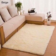 Sanwood® Home Living Room Bedroom Floor Carpet Mat Soft Anti-Skid Rectangle Area Rug 80*120cm (Beige)