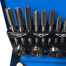 Screw Extractor Remover Kit 32 Pcs Metric Tap Die Set Thread Cleaner Drill Kit