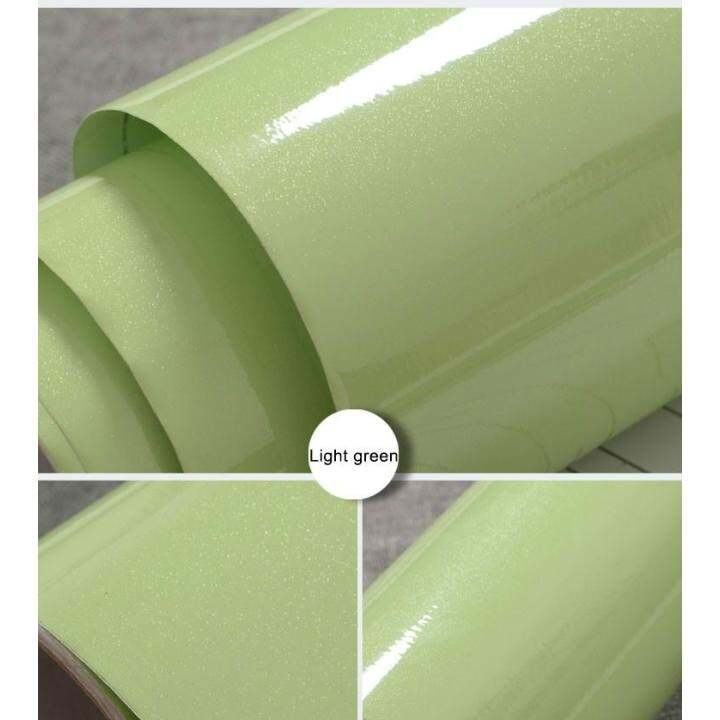SDP Glossy DIY Decorative Film PVC Self adhesive Wall paper Furniture Renovation Wall Stickers Kitchen Cabinet Waterproof Wallpaper
