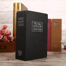 Security Lock Dictionary Safe Secret Book Cash Money Jewellery Hidden Locker Box (Black)