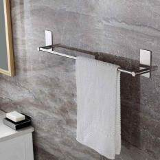 Self-Adhesive Towel Bar Holder Stainless Steel Strong Traceless Towel Hanger By Habuy.