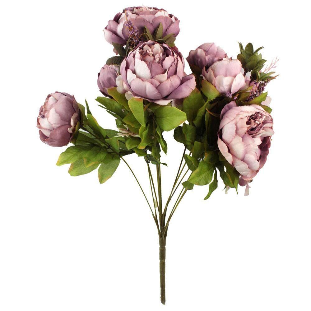 senmei 1 Bouquet Artificial Peony Silk Flowers Home Wedding Decoration,Cameo Brown - intl