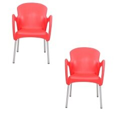 Set Of 2 Modern Durban Dining Chair - Red