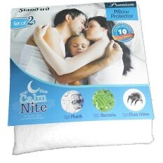 Set Of 2 Waterproof Pillow Protectors - Bed Bug Proof, Hypoallergenic - Premium Zippered Cotton Terry Covers, Size:20 X 30 Inch By Coloring.