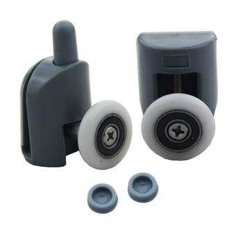 Set of 8 Single Shower Door Rollers / Runners / Wheels / Pulleys Top or Bottom 25mm wheel-