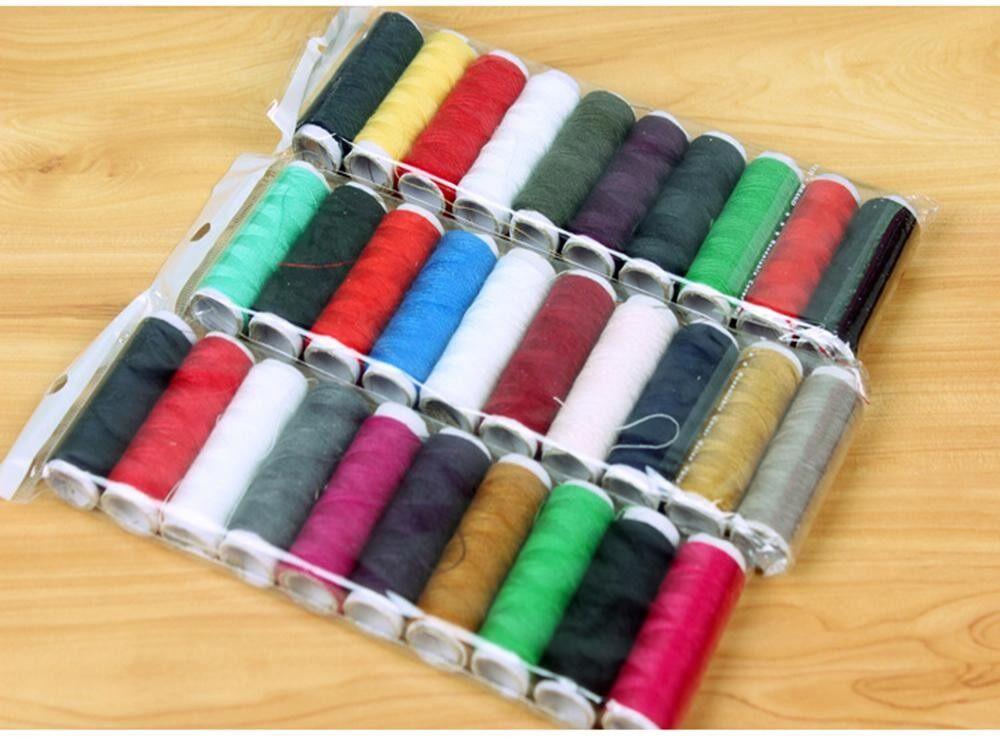 ด้ายเย็บผ้า (10 สี) ที่แข็งแกร่งสำหรับจักรเย็บผ้ามือเย็บโพลีเอสเตอร์ขั้นสูงด้ายชุดที่มีสีสันอุปกรณ์เย็บผ้า - นานาชาติ By Tumbes.