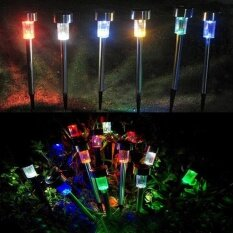 Redcolourful Silver shell solar panel lights are white 10PCS