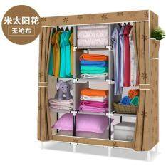 Simple Fabric wardrobe Large receiver cabinet Waterproof clothAssemble Foldable clothes scarf Socks
