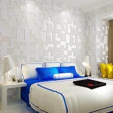 Buy Simple Lattice Non Woven Wallpaper Living Room Bedroom Sofa Tv Background Wallpaper 53cm 10m 1pcs Malaysia