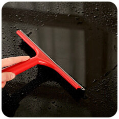 Simple Mirror Squeegee Glass Wiper Silicone Blade Cleaning Shower Screen