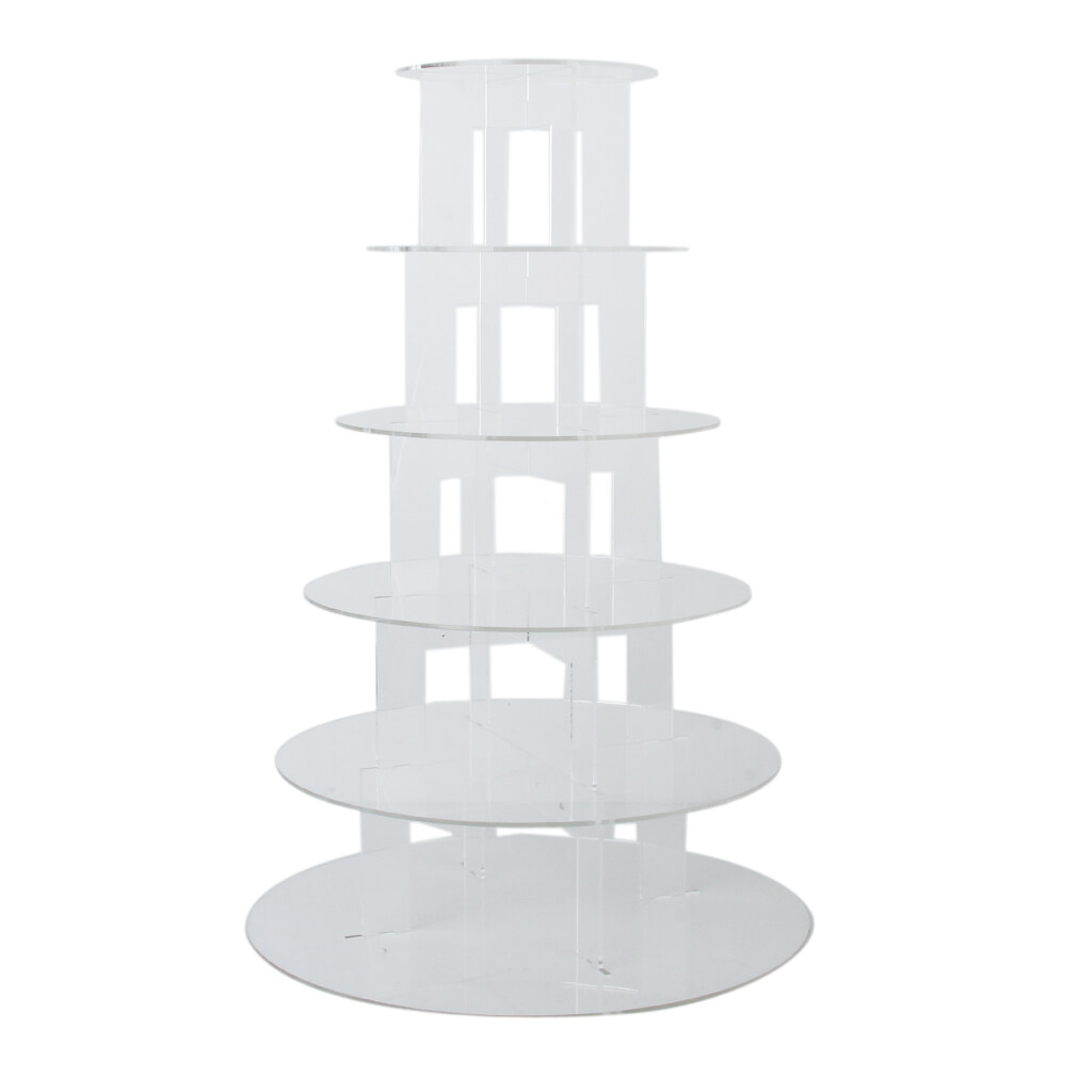 Buy Six Tier Clear Hard Acrylic Round Cupcake Stand Wedding Party Display Intl Bolehdeals