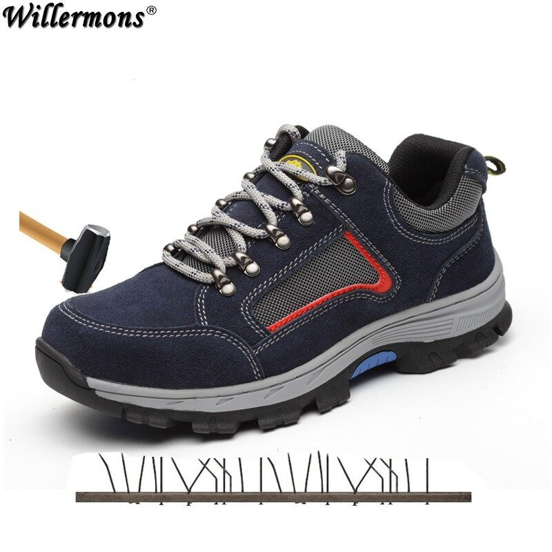 5a1c7a4a61e2 MODYF Mens Safety Shoes Work Steel Toe Anti-sprains Boots Lightweight  Breathable Sneaker Casual Footwear