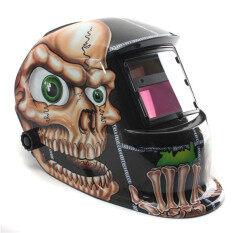 Skull Big Eyes Solar Auto Darkening Welding Helmet Arc Tig Mig Grinding Mask
