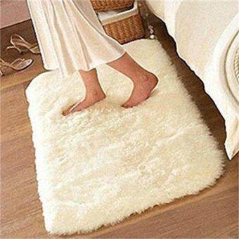 Soft Fluffy ผ้าเช็ดเท้ากันลื่นพรมแบบขนหนาห้องรับประทานอาหารพรมห้องนอนในบ้านพรมเช็ดเท้า-