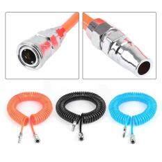 Soft Recoil Air Hose 8x5 mm Coil Spring Tube Ends 9m Pneumatic Compressor Tool