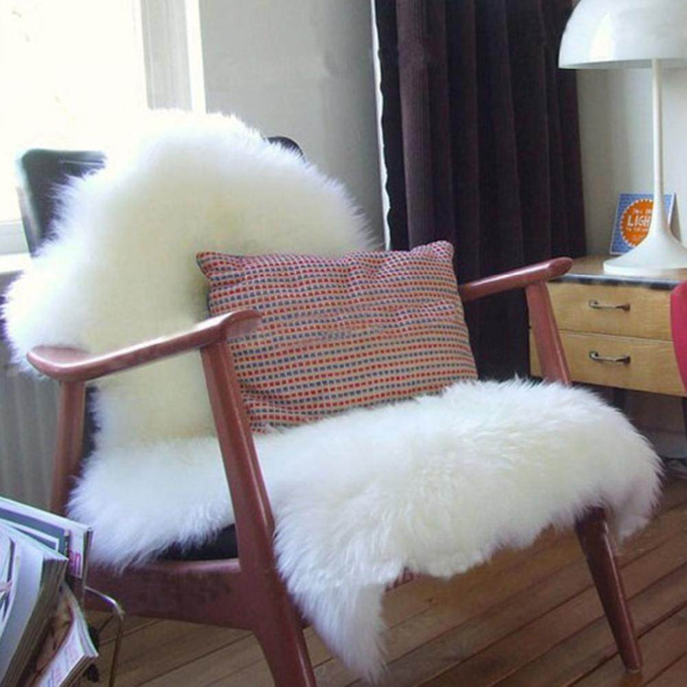 Price Soft Wool Seat Pad Cover Carpet Plain Sheepskin Plain Bedroom Rug 75 106 Cm Intl Oem Online