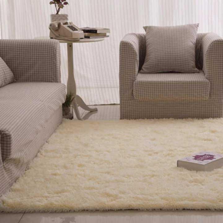 Velvet Soft Rugs In Natural Beige: SOKANO Anti Slip Premium Velvet Carpet (120cm X 80cm