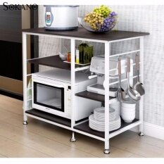 Sokano D432 Multifunctional Oven And Kitchen Dapur Storage Rack Black 410360