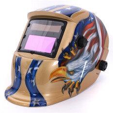 Solar Auto Darkening Welding Helmet Arc Tig Mig Grinding Mask for Welders (Gold)