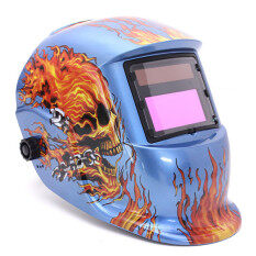 Solar Auto Darkening Welding Helmet ARC TIG MIG Weld For Welding Grinding Mask (Blue)