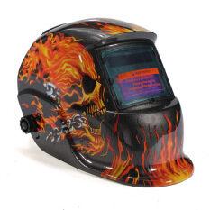 Solar Auto Darkening Welding Helmet Mask Tool UV/IR Protect (Black/Yellow)