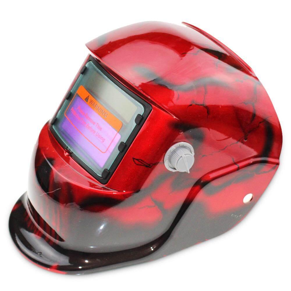Tenaga Surya Energi Otomatis Berubah Cahaya Listrik Pengelasan Helm Pelindung dengan Warna Polos Jenis-Internasional