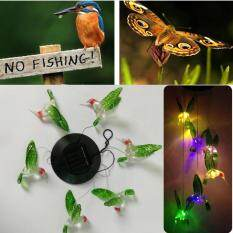 Solar Lamp Color Changing LED Hummingbird Wind Chimes Light Outdoor Garden